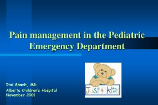 Pain management in the Pediatric      Emergency Department
