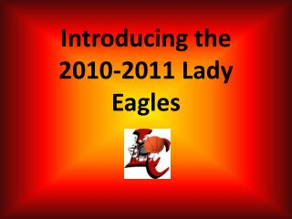 Introducing the  2010-2011 Lady Eagles