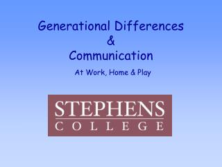 Generational Differences & Communication