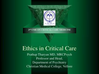 Ethics in Critical Care