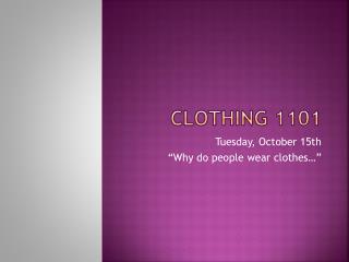 Clothing 1101
