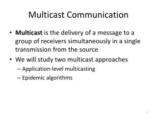 Multicast Communication