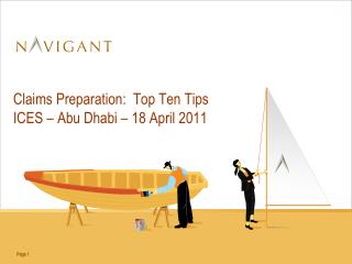 Claims Preparation:  Top Ten Tips ICES – Abu Dhabi – 18 April 2011
