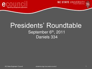 Presidents' Roundtable