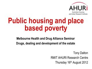 Public housing and place based poverty