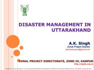 DISASTER  MANAGEMENT IN UTTARAKHAND