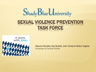Sexual  Violence Prevention  Task  Force
