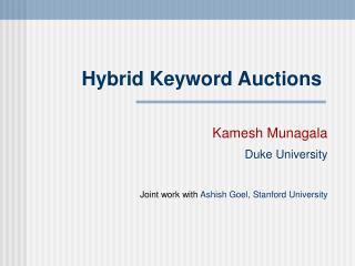 Hybrid Keyword Auctions