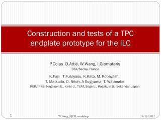 Construction and tests of a TPC endplate prototype for the ILC
