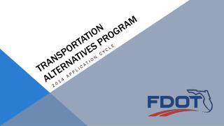 Transportation alternatives program