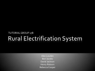 Rural Electrification System