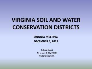 VIRGINIA SOIL AND WATER CONSERVATION DISTRICTS