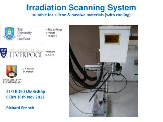 Irradiation Scanning System suitable for silicon & passive materials (with cooling)