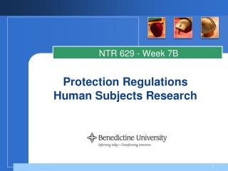 Protection Regulations Human Subjects Research