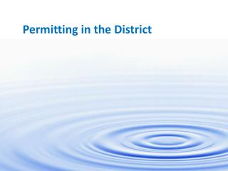 Permitting in the District
