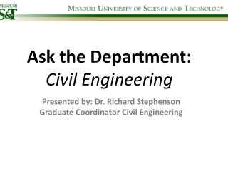 Ask the Department: Civil Engineering