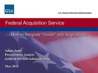 "How  to  Integrate ""Green"" into Acquisitions"