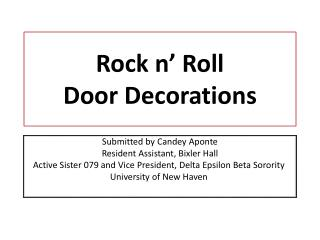 Rock n' Roll  Door Decorations