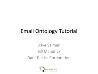 Email Ontology Tutorial