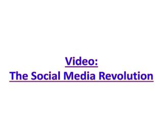 Video: The  Social Media Revolution