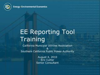 EE Reporting Tool  Training