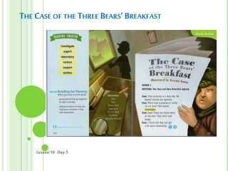 the case of the three bears