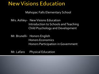New Visions Education