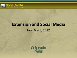 Extension and Social Media