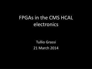 FPGAs in the CMS HCAL electronics