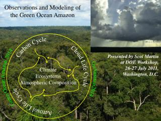 Observations  and Modeling of the Green Ocean  Amazon