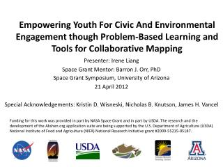 Empowering Youth For Civic And Environmental Engagement though Problem-Based Learning and Tools for Collaborative Mappin