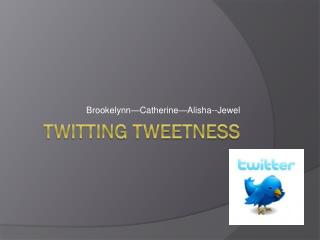 Twitting Tweetness