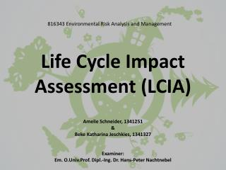 Life Cycle Impact Assessment (LCIA)