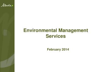 Environmental Management Services