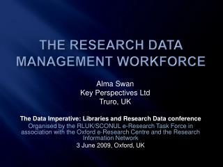 The research data management workforce