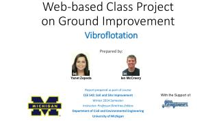Web-based Class Project on Ground Improvement