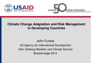 Climate Change Adaptation and Risk Management in Developing Countries
