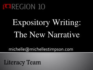 Expository Writing:  The New Narrative