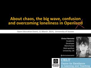 About chaos, the big wave, confusion  and overcoming loneliness in  Openland