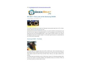 ifa 2011: first look at the samsung nx200 (geek beat tv)