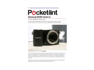 samsung nx200 hands-on (pocket-lint)