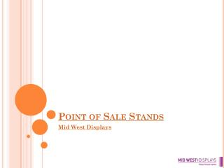 point of sale stands from mid west displays