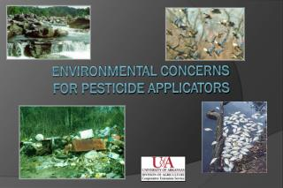 Environmental Concerns for Pesticide Applicators