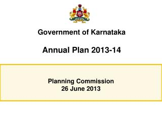 Government of  Karnataka Annual Plan 2013-14