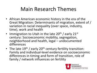 Main Research Themes