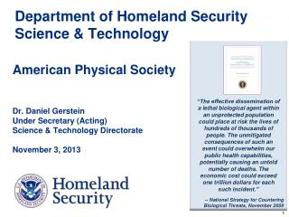 Department of Homeland Security Science & Technology