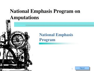 National Emphasis Program on Amputations