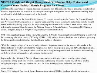 nesta lifestyle and weight management certification helps tr