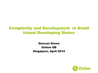 Complexity and Development  in Small Island Developing States