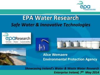 EPA Water Research Safe Water & Innovative Technologies